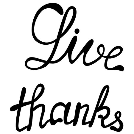 give: Vector give thanks lettering