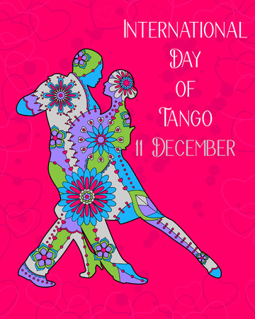 Vector tango day background