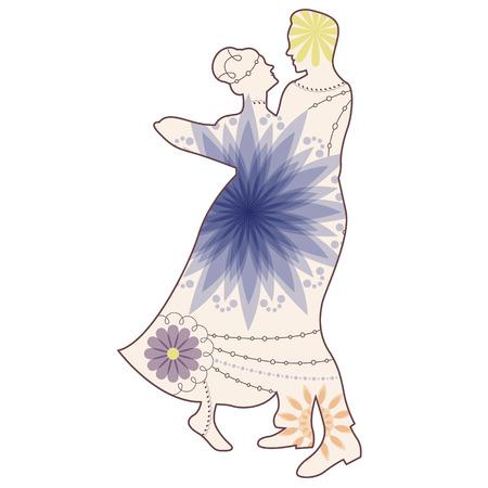 waltz: Vector waltz silhouette vintage