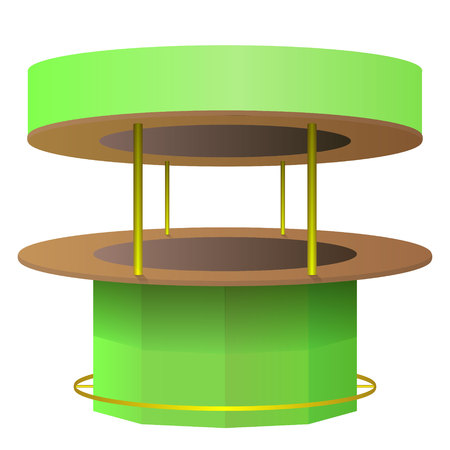 Vector bar counter green and brown isolated