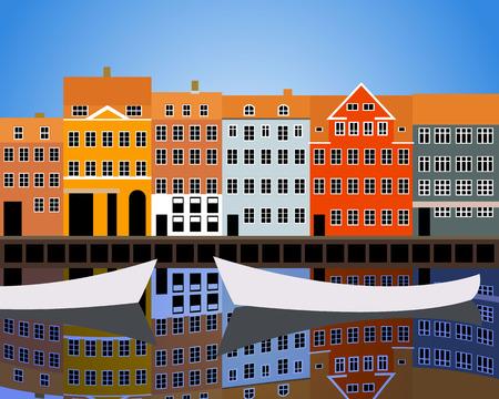 Vector illustration of Copenhagen