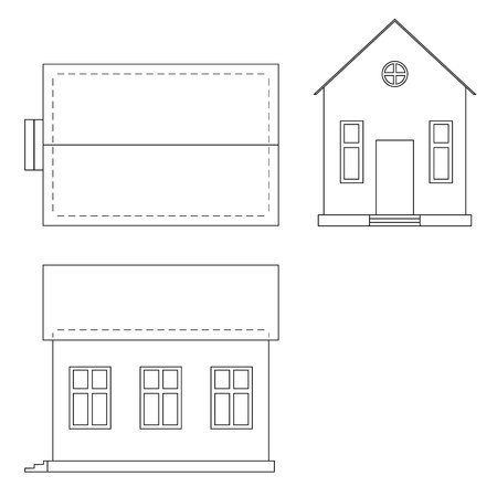ide: Vector drawing of house