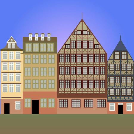 frankfurt: vector illustration of Frankfurt am Main