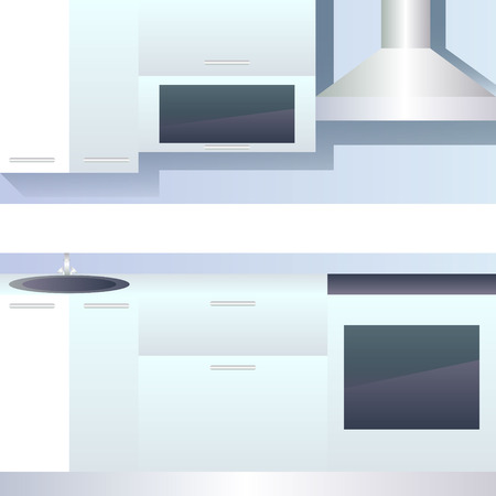 hob: Vector interior of kitchen blank