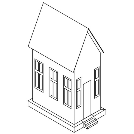 ide: Vector perspective view of house Illustration
