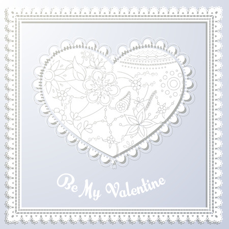 be: Vector be my valentine card Illustration