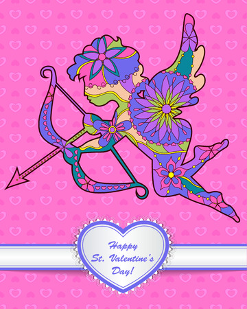 Vector happy St. Valentines day card