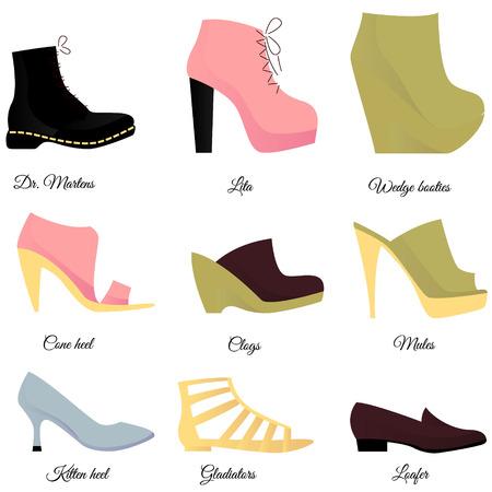 loafer: Shoes set Illustration