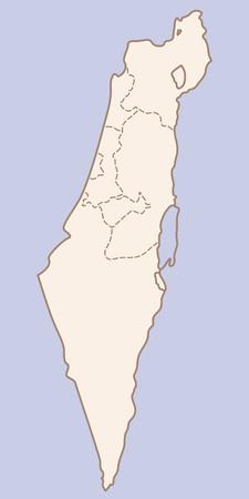 vector Israel contour map
