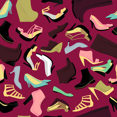 loafer: Shoes seamless pattern vector illustration Illustration