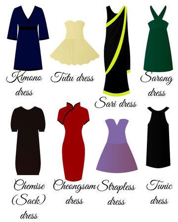 Styles of dresses set