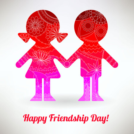 Happy friendship day card vector Illustration