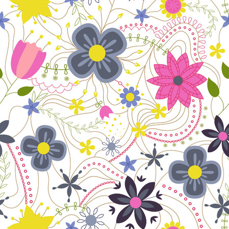 Abstract flower colorful on white vector