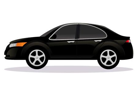 Sedan, saloon car body type Illustration