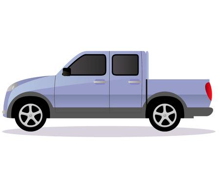light duty: Pickup track car body type design.