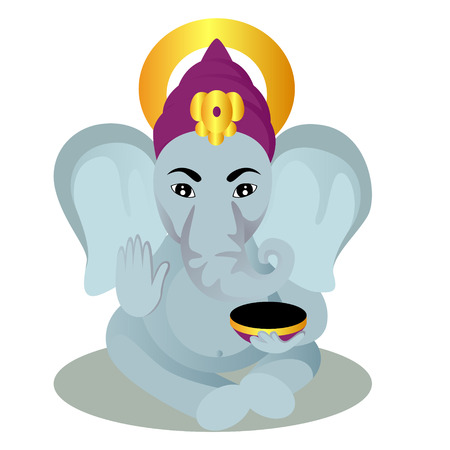 Ganesha cartoon vector illustration