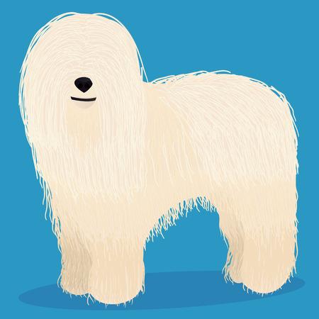 Komondor dog cartoon