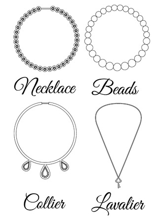 Types of necklaces outline