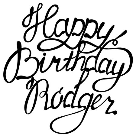 Vector Happy birthday Rodger name lettering