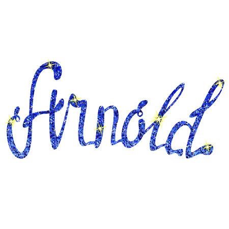 Vector Arnold name lettering tinsels Illustration