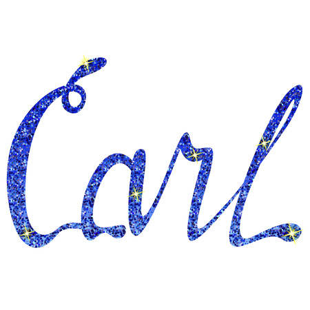 Vector Carl name lettering tinsels