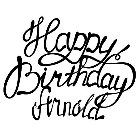 Vector Happy birthday Arnold name lettering
