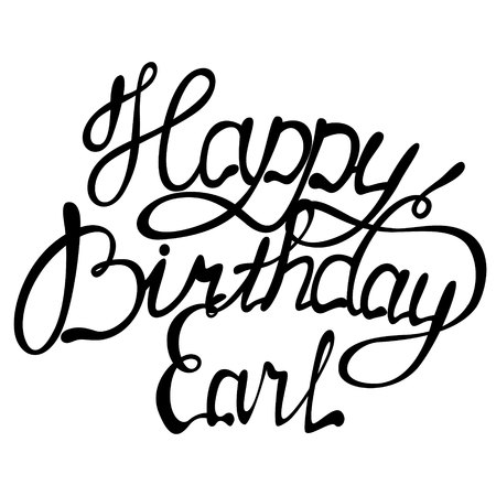 Vector Happy birthday Earl name lettering