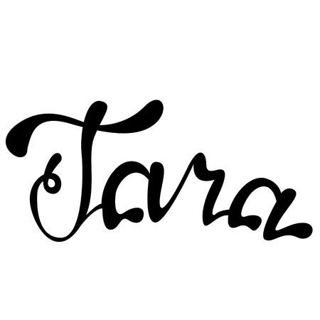 Vector Tara name lettering