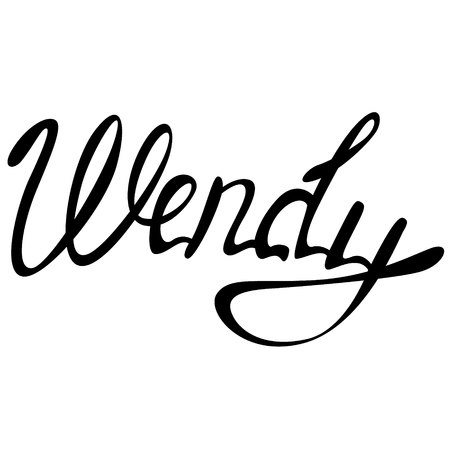 Vector Wendy name lettering 일러스트
