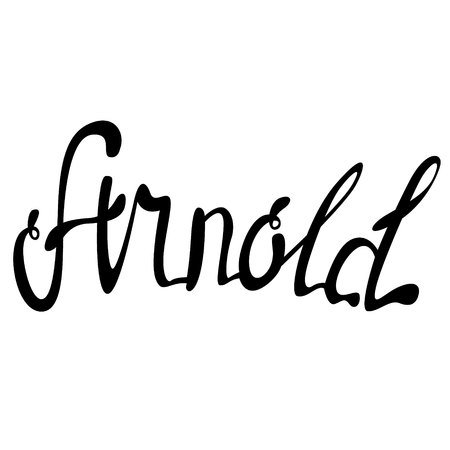 Arnold name lettering
