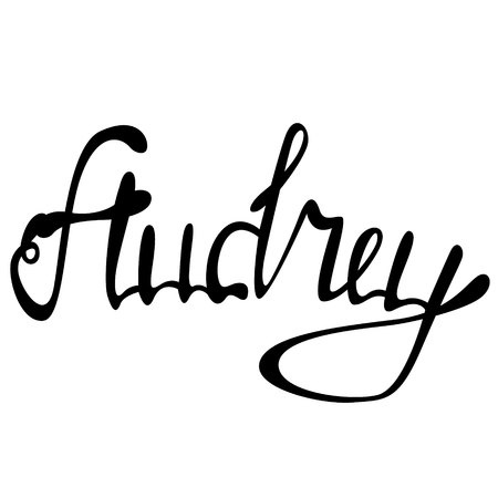 Audrey name lettering
