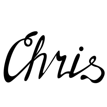 Chris name lettering