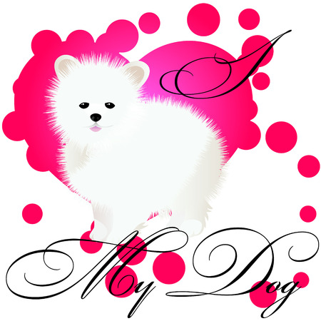 I love my spitz vector illustration Фото со стока - 125279028