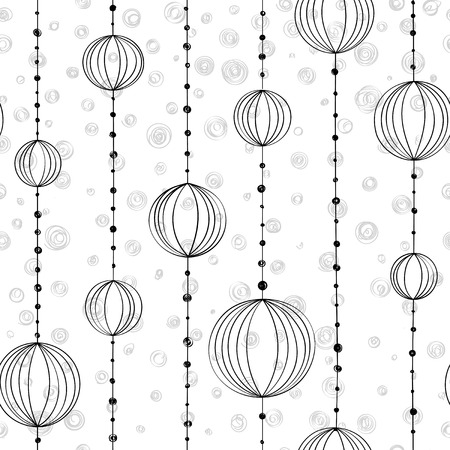 Hand drawing pattern with threads and bead