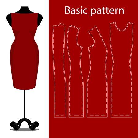 Sheath dress basic sewing pattern