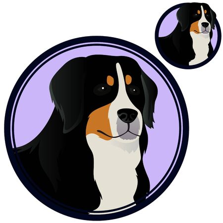 Zennenhund head in circle vector illustration Фото со стока - 125249085