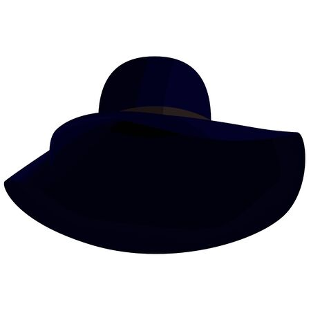 Slouch hat cartoon illustration isolated