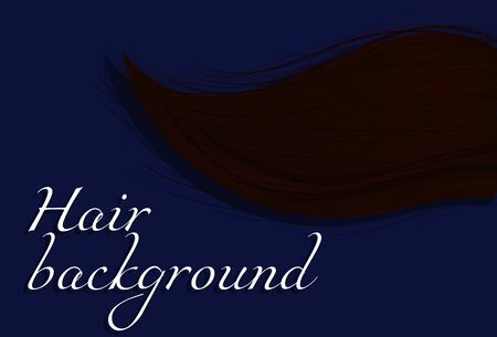 Background with hand drawing hair Иллюстрация