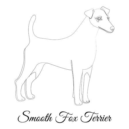 Smooth fox terrier dog outline Illustration