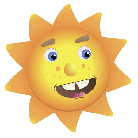 Vector image of the sun
