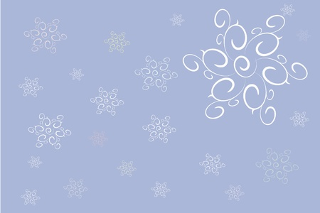 The image of snowflakes on a blue background Illustration