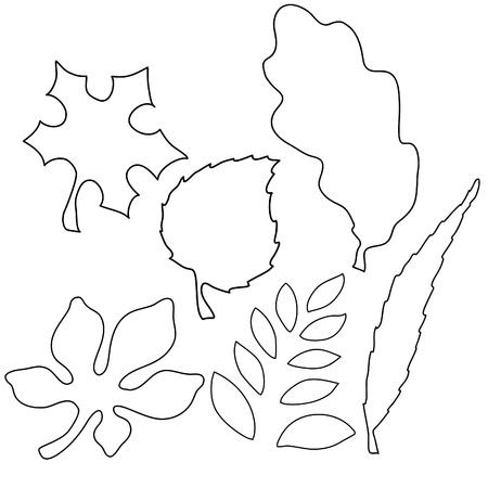 aspen: Vector image of leaves