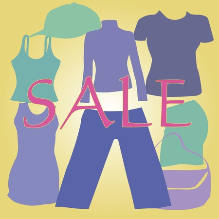 Image of the sale of clothes Stock Vector - 10225897