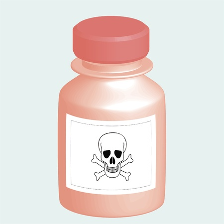 poison bottle: A bottle of poison Illustration