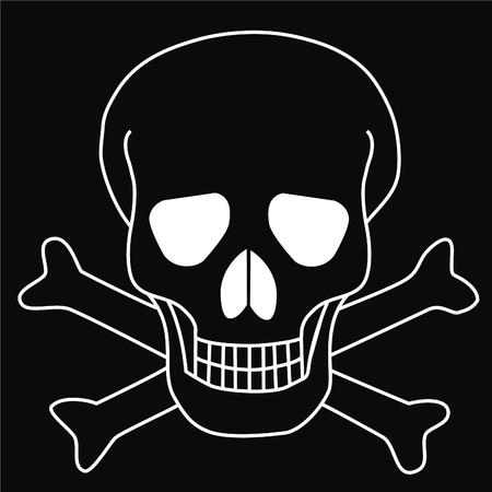 Skull and crossbones Stock Vector - 10225896