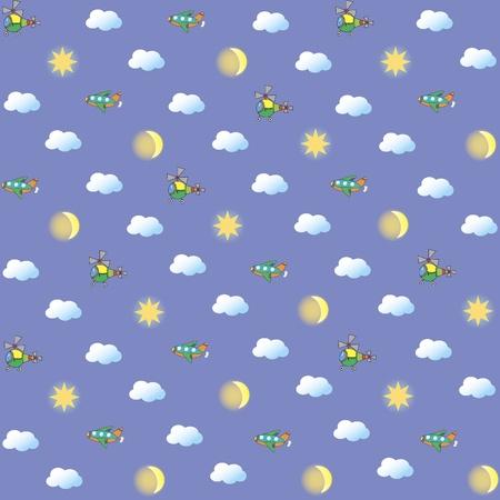 Seamless image sky Illustration