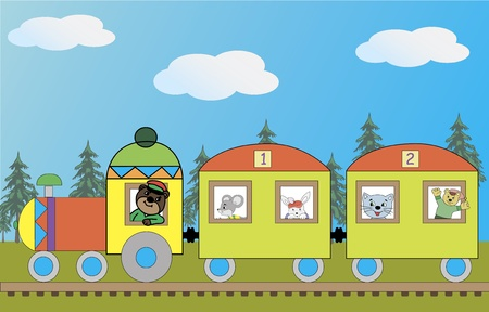 Image of the train with the beasts