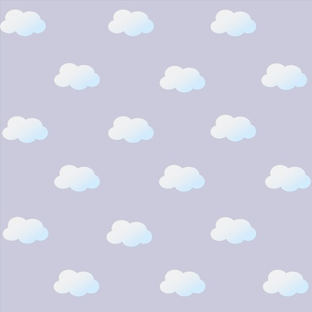 cloud pattern on lilac background Illustration