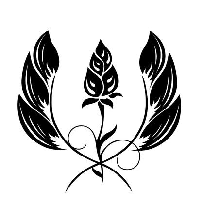 Tattoo of a flower pattern Illustration