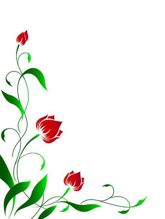 hoekversiering: Hoekige bloemenpatroon